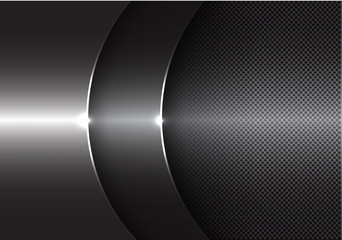 Abstract gray metal curve overlap design modern background vector illustration. Wall mural
