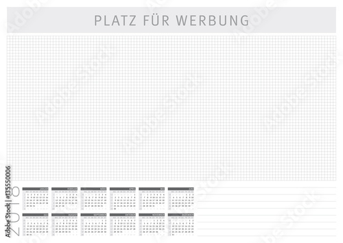 schreibtischunterlage mit kalender 2018 a2 stockfotos. Black Bedroom Furniture Sets. Home Design Ideas