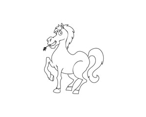 Horse character outlines