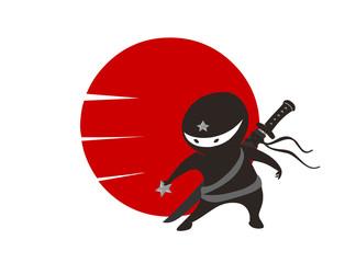 Little ninja star illustration