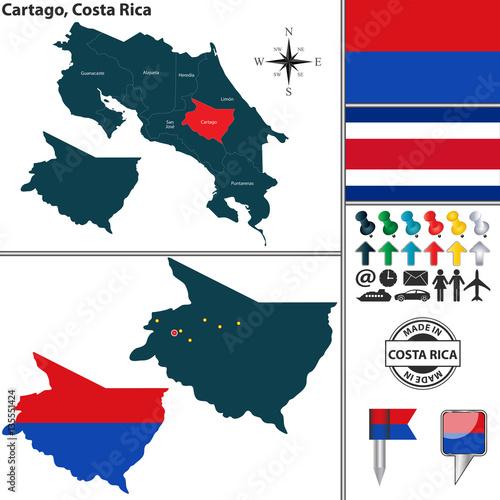 Map of Guanacaste, Costa Rica\