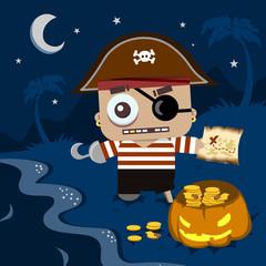 Halloween background Little Pirate