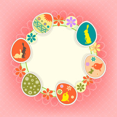 design photo frame with Easter eggs