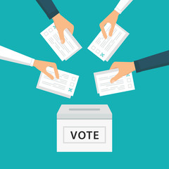 People Vote at Election