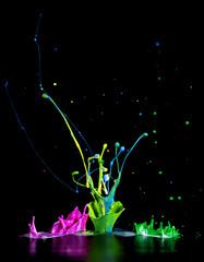 Bunte Farbspritzer - Paint Splash