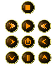 Icons for playing and recording