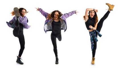 Woman dancing urban dance