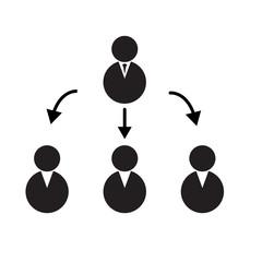 termwork icon on white background. manager icon.
