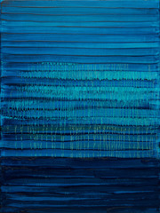 Blue abstact interior oil painting