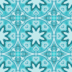 Elegant mandala seamless pattern