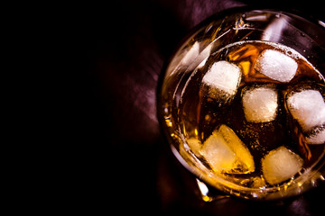 whisky and ice. dark