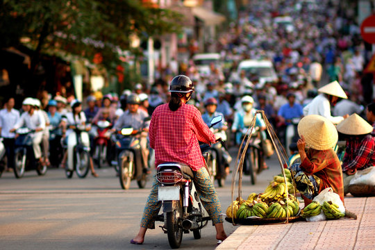 Traffic Jam in Vietnam