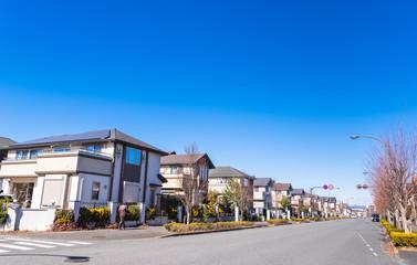 無電柱化された住宅街