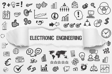 Electronic Engineering / weißes Papier mit Symbole