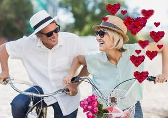 Romantic senior couple having fun
