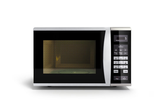 Microwave stove isolated on white background 3d render