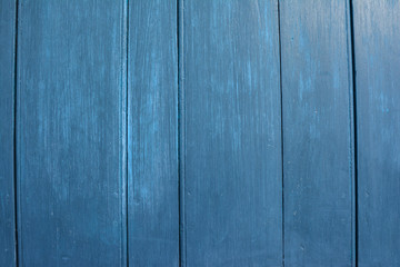 Old blue wooden background or texture.