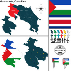 Map of Guanacaste, Costa Rica
