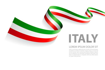 Vector Banner with Italian Flag colors Wall mural