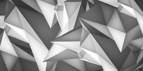 Volume geometric shape, 3d crystal background, abstraction low polygons wallpaper, vector design form