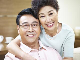 portrait of a happy loving senior couple