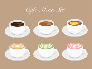 Cafeドリンクメニューセット