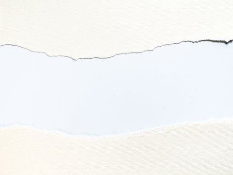 The space between white paper
