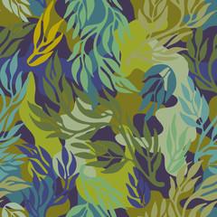 Seamless camouflage dark khaki hatched pattern.