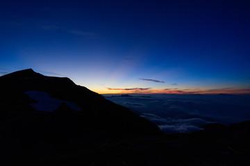 長野 北アルプス 白馬岳の夜明け