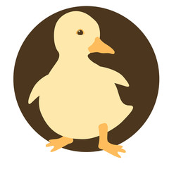 duckling vector illustration style Flat
