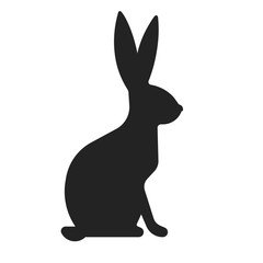 Vector illustration of sitting bunny, hare icon