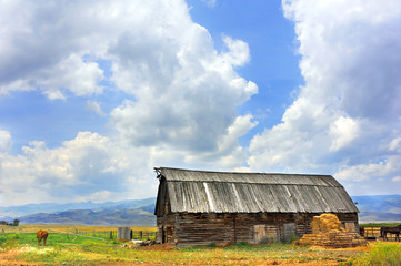 Barn with Wooden Roof