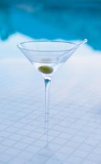 Martini on Pool Bar