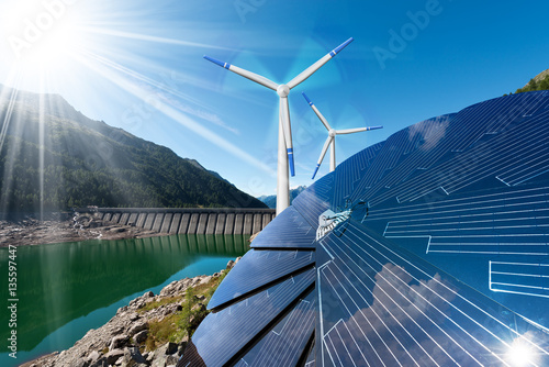 Quot Renewable Energy Sunlight With Solar Panel Wind With