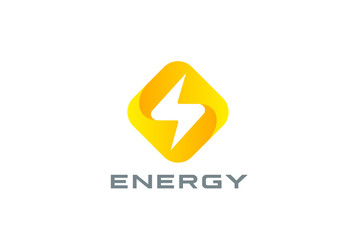 Flash Logo design Thunderbolt symbol Energy Power electric speed