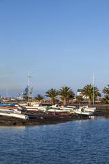 yacht harbor in Arrecife, Spain