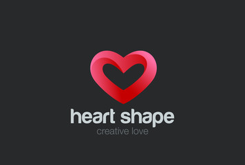 Heart Logo design vector. Valentine day love symbol. Cardiology