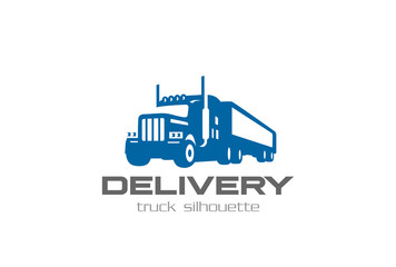 Cargo Delivery Truck Logo design Logistic Heavy lorry car icon