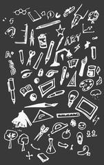 Artist's tools vector