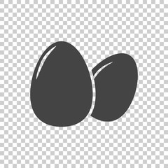 Egg Icon. Flat vector illustration on isolated background