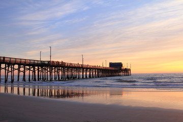 Newport Beach Pier at the sunset - USA