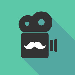 Long shadow cinema camera with a moustache