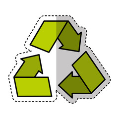 recycle symbol sign icon vector illustration design