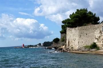 View on the city Krk, Croatia