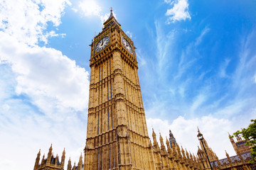 Big Ben London Clock tower in UK Thames