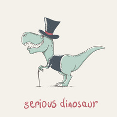 childish cartoon dinosaur