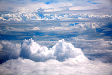 Clouds sea aircraft view aerial dramatic