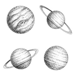 Collection of planets solar system