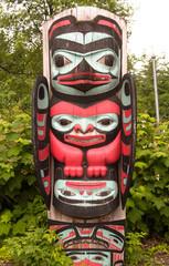Inuit art, wooden sculptures made by the Alaskan natives