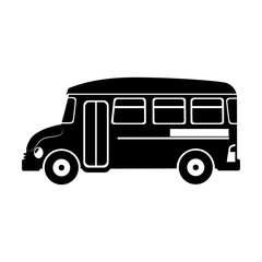 bus school transport icon vector illustration design